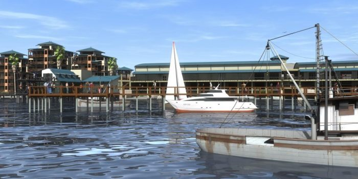 Artist Impression for the Waterfront Apartments