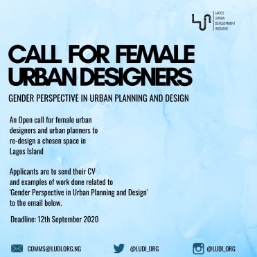Call for Female Urban Planners