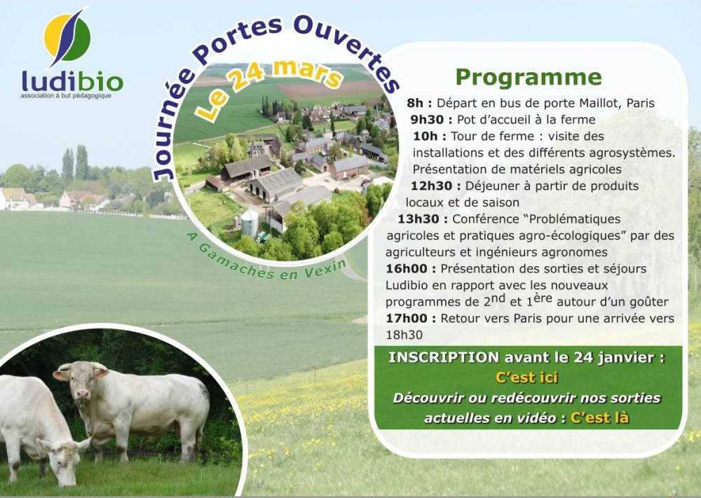 Invitation journé portes ouvertes Ludibio
