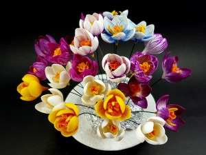Video Tutorial: How to make Realistic Crocus Flower from Polymer Clay