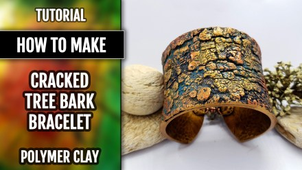 """Bracelet Design with """"Cracked Tree Bark"""" and """"Fern Leafs"""" textures"""