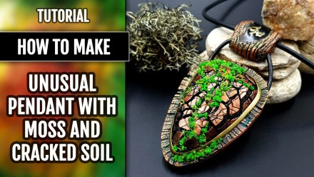 (15+) Video Tutorial: How to make Unusual Pendant with Moss and Cracked Soil