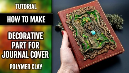 How to Make: Decorative Part for  Book Cover – A Praying Forest Goddess
