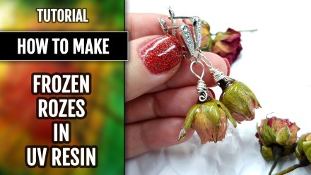 How to make Earrings – Frozen Roses in UV Resin