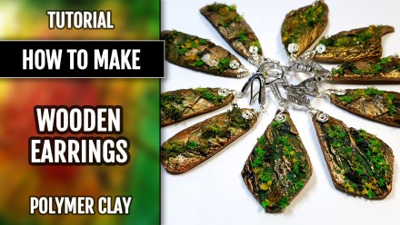 How to make: FAUX Wooden Earrings