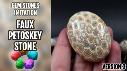 (10+) Video Tutorial: How to make Polymer Clay Faux Petoskey Stone (My 3rd and more complicated version)
