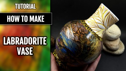 (15+) Video Tutorial: How to make Polymer Clay Vase in Stone Imitation Technique