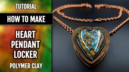 (35+) Video Tutorial: How to make Heart Locker Pendant with Faux Boulder Opal – Valentin's Day Gift!