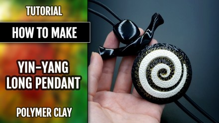 ($15+) Video Tutorial: How to make Yin-Yang Long Pendant!
