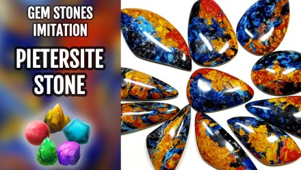 ($10+) Video Tutorial. How to make Polymer clay Faux Pietersite Stone. New version.