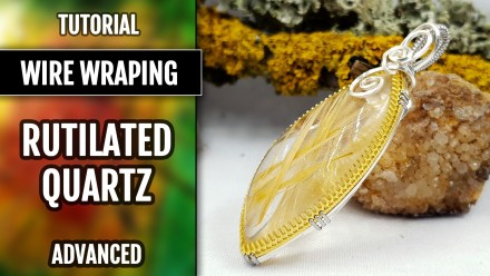 ($5+) Video Tutorial: How to make Wire Wrapped Pendant with Faux Rutilated Quartz