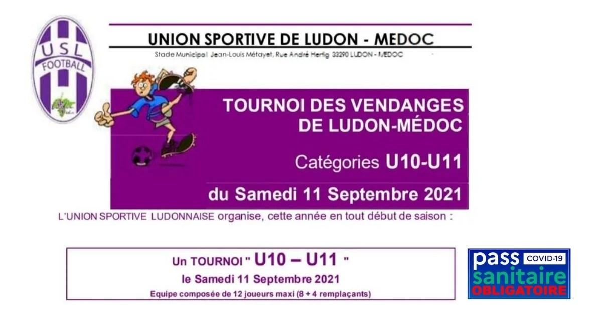 Mairie Ludon USL Football Tournoi des vendanges 2021 image a la une 2 - Événements