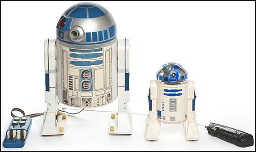 Juguetes de R2D2 del universo Star wars