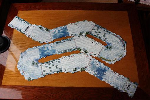 Carrera de ejemplo de Snow Tails