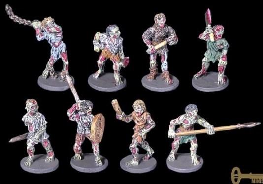 pack de zombis de TurnKey Miniatures