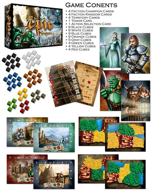 Componentes de Tiny Epic Kingdoms