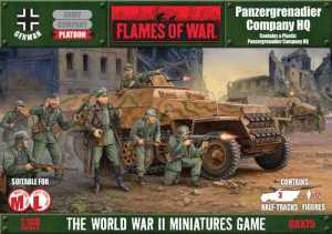 Flames of War, Panzergrenadier HQ caja
