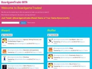 Board Games Trade, pantalla