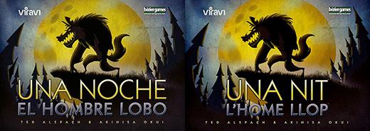 Portadas en castellano y catalan de one night ultimate werewolf