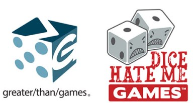 Logotipos de Dice hate Me y Greater than games