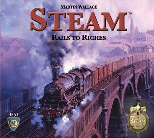 Portada de Steam, uno de los juegos de Martin Wallace para Mayfair Games