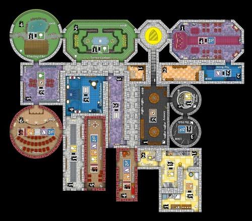 Ejemplo de juego de Castles of Mad King Ludwig