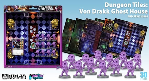 Componentes Dungeon Tiles: Von Drakk Ghost House