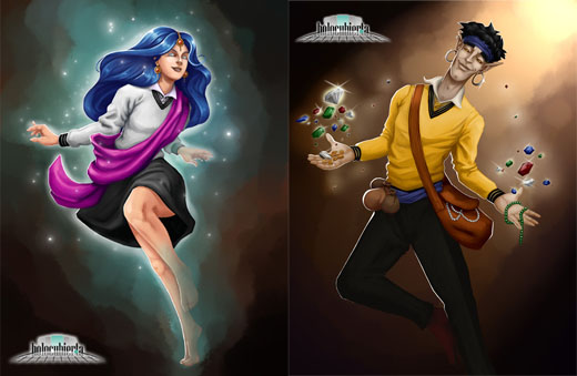 Ilustraciones de Arcanya Magic Academy