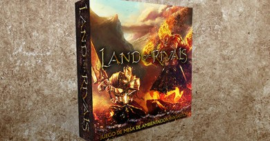 Infografia de la caja de land of rivals