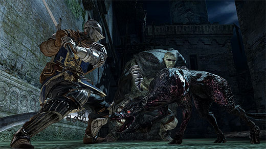 Captura de pantalla de dark Souls