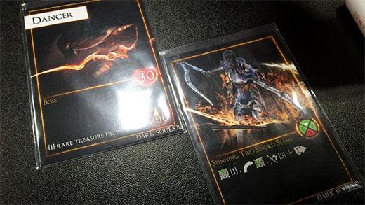 Cartas de jefe de Dark Souls el juego de mesa