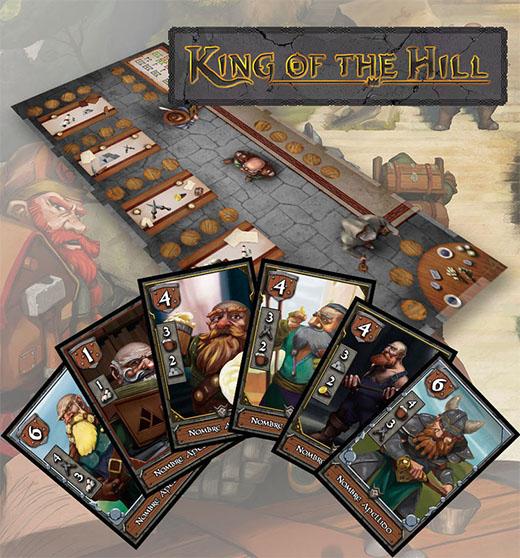 Algunos componentes de king of the hill