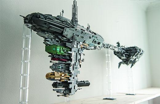 Nave de Star Wars realizada con piezas de LEGO