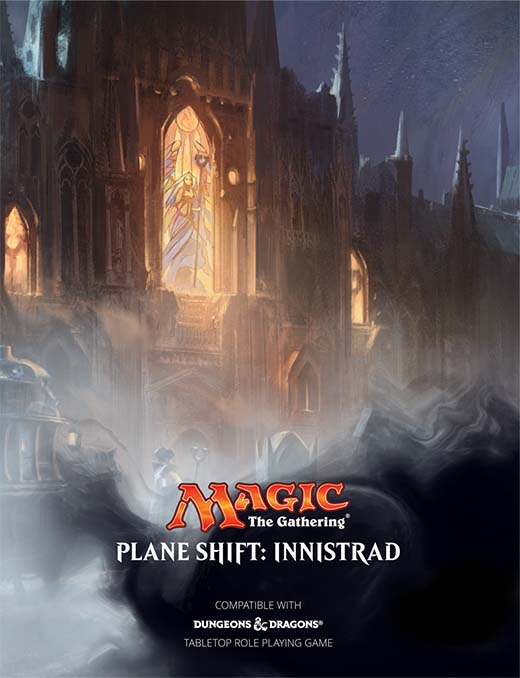 Portada de planeshift: innistrad, ambientación para D&D de Magic the gathering
