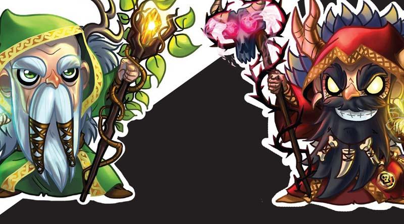 Arte de la portada del juego de mesa para dos jugadores Light and dark