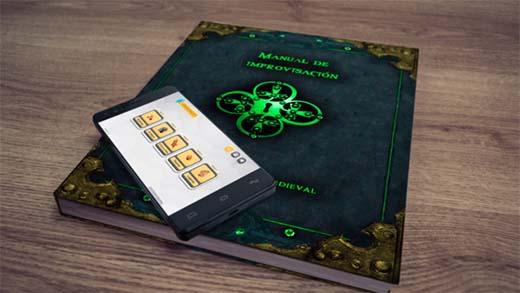 Libro y aplicación del Manual de improvisación de rol fantasía medieval