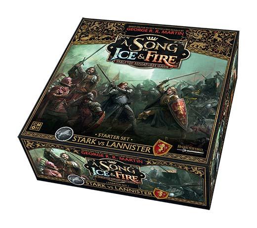 Diseño de la caja de canción de hielo y fuego: el juego de miniaturas