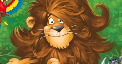 El león del juego de memoria para niños Leo