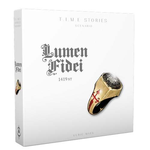 Portada de la expansión para Time Stories Lumen Fidei