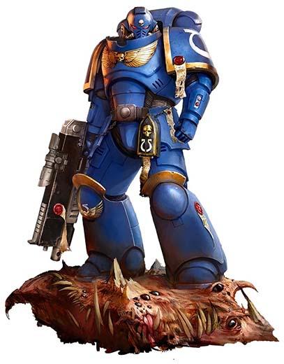 Ilustración de los primaris space marines