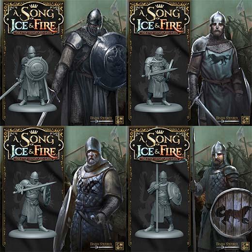 Render de las tropas de la Casa Stark para Canción de Hielo y Fuego el juego de miniaturas