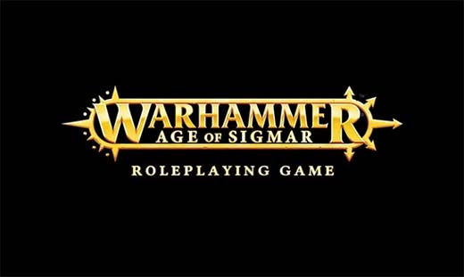 Logotipo de warhammer age of sigmar roleplaying game