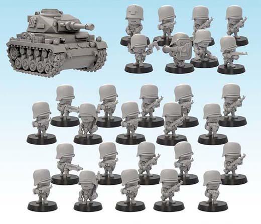 Ejército aleman de la nueva línea de miniaturas GUTS de Soda Pop