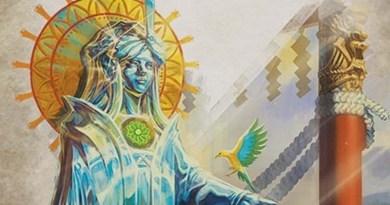 Detalle de la portada del primer destiny pack de la leyenda de los cinco anillos las lagrimas de Amaterasu
