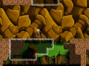 Using the camera after-image mechanic, the girl traverses a canyon that could not normally be crossed.