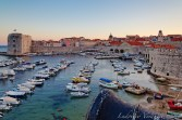 Sunset on the harbor from the fortified walls.