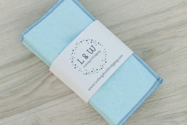 Bundle of Wipes (6 Light Blue, 2-Ply Flannel) 1