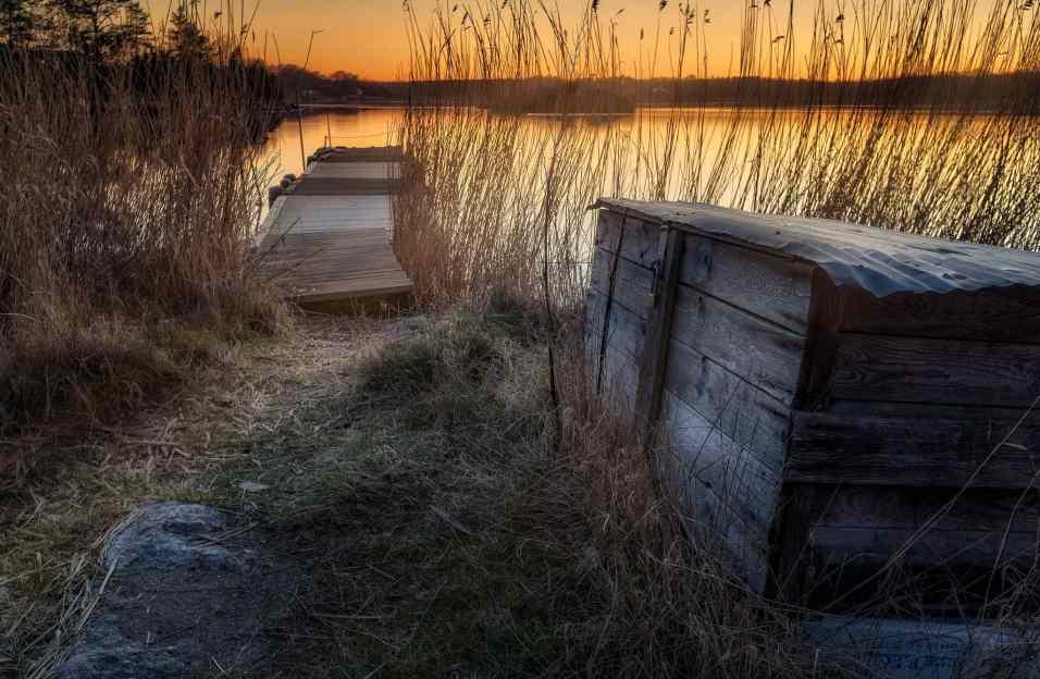 Solnedgång från Ekenäs utanför Ronneby - Ludwig Sörmlind