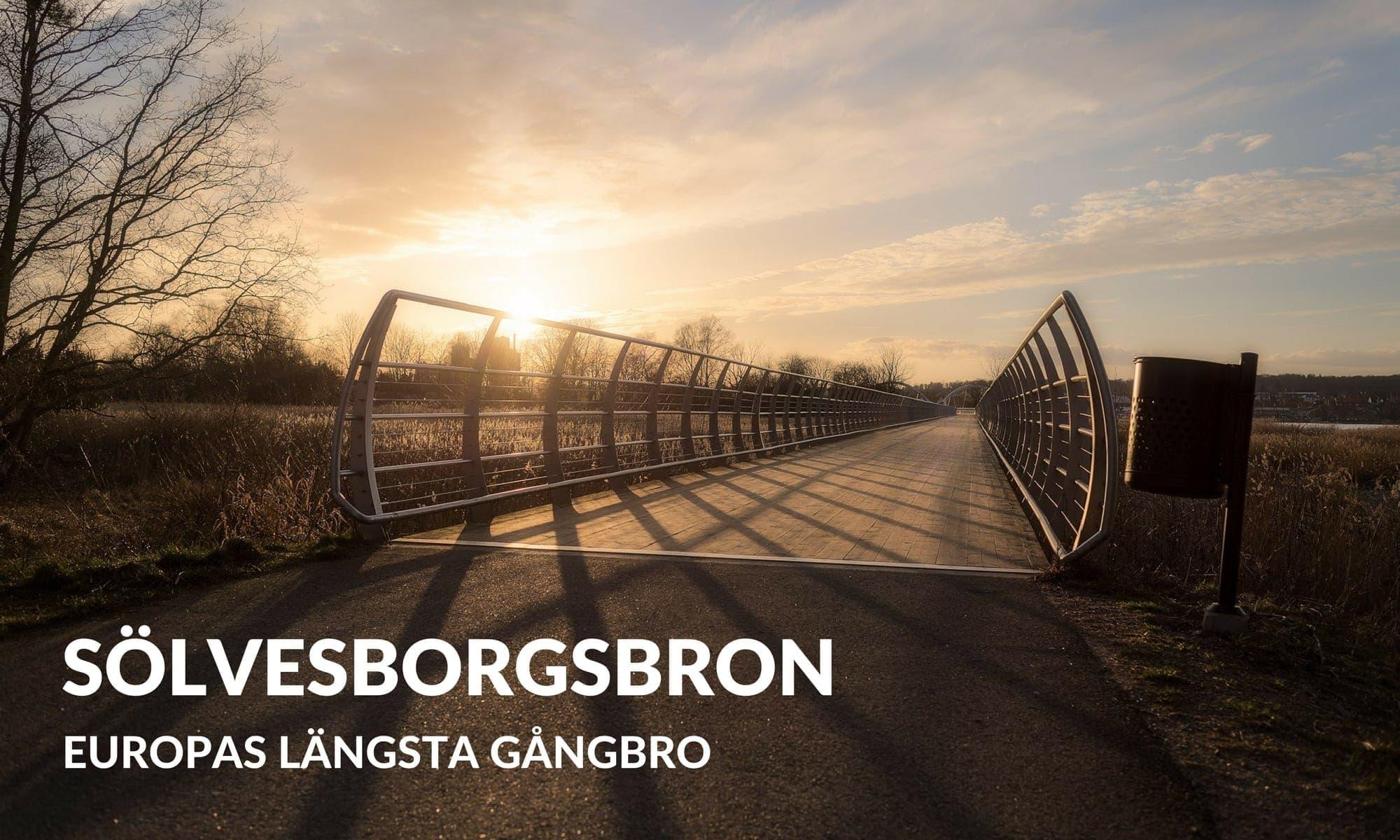 Sölvesborgsbron - Europas längsta gångbro - Ludwig Sörmlind