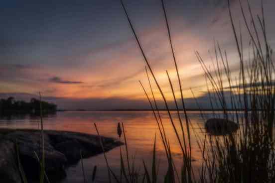 En vacker, mjuk solnedgång uppenbarade sig framför våra ögon.